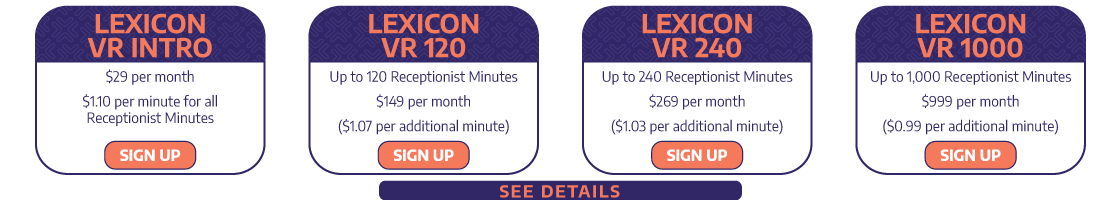 Virtual Receptionist Pricing